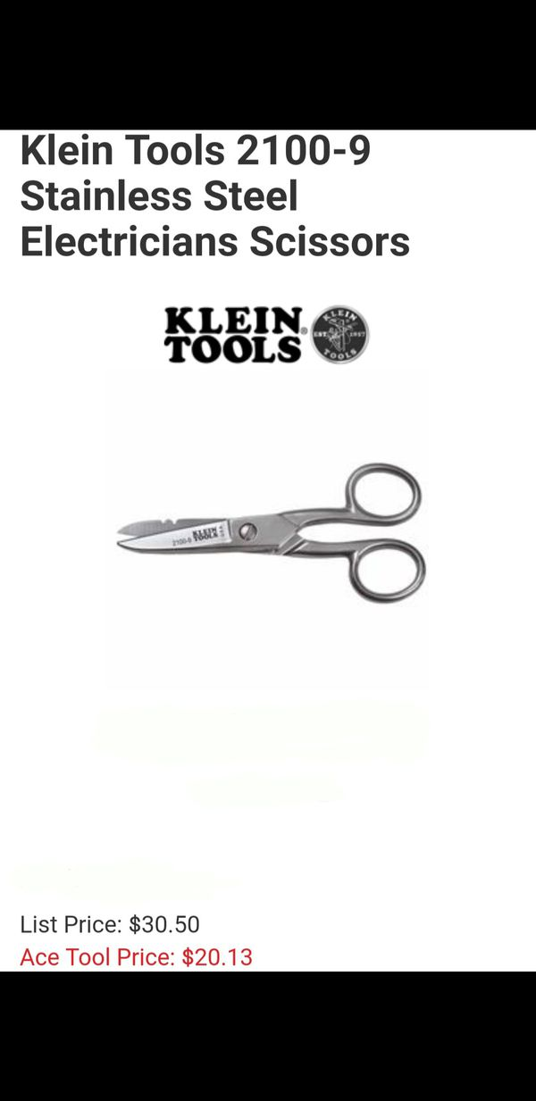Klein Tools Electrician Scissors for Sale in Los Angeles, CA - OfferUp
