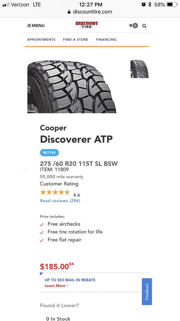 Mercedes Benz Bellevue >> 275/60r20 tires cooper discoverer atp for Sale in Bellevue, WA - OfferUp