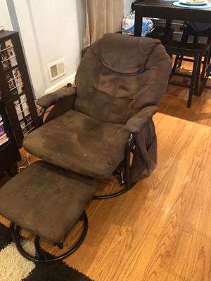 Microfiber glider with footstool for Sale in Washington, DC