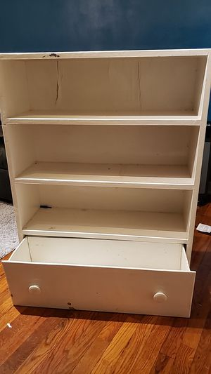 FREE White wooden shelf for Sale in Washington, DC