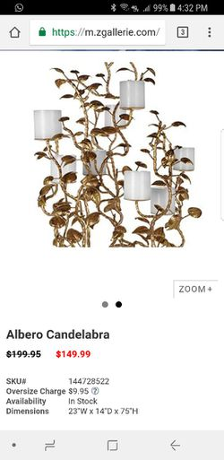 Z gallerie chandelier. Candle holder Thumbnail