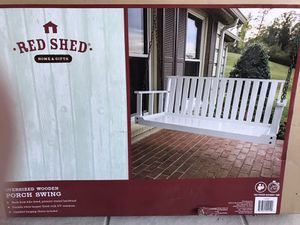 """Photo Brand New in box Oversized Wooden Porch Swing 56""""x 24"""" x26"""" You Must Pickup"""