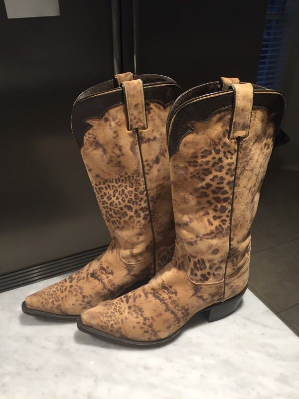 b12df65ba37 Nocona Ladies Boots - leopard animal print for Sale in Benbrook, TX -  OfferUp