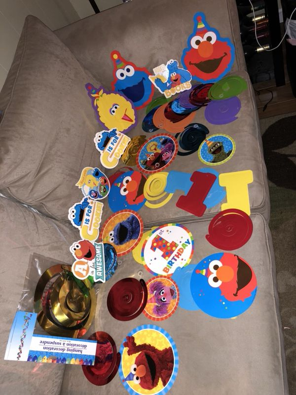 Sesame Street Bday Party Complete W Invitation Templ