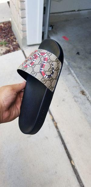 3e8f7c9a8666 New in box gucci slides flip flops sandals for Sale in San Antonio