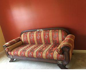 sofa India Style real wood amazing style for Sale in Manassas, VA
