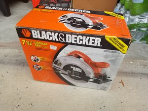 """*New in Box"""" Black & Black Decker 7 1/4"""" Circular Saw for Sale in Fort Meade, MD"""