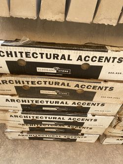 NEW 16 BOX THE ARQUITECTURAL ACCENTS STONE PERFECT CONDITION EVERY BOX HAVE 7 PIECES  Thumbnail