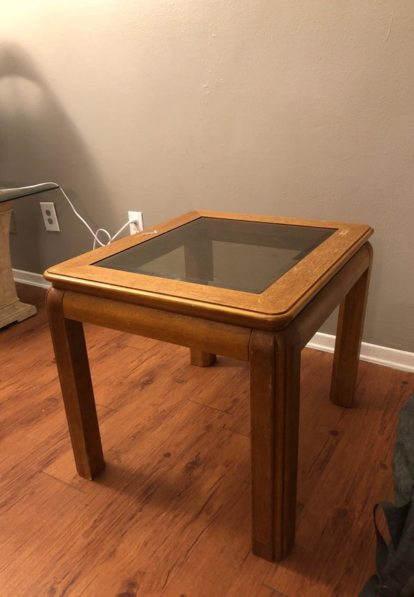Nice Coffee Table With Tinted Gl And Beveled Edges