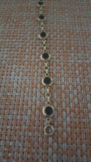 Antique black onyx and gold bracelet for Sale in Chapel Hill, NC