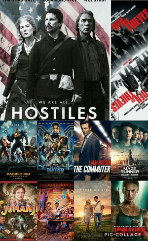 1 FOR $3 OR 4 FOR $10 DVD MOVIE HOSTILES DEN OF THIEVES COCO THE COMMUTER TOMB RAIDER MAZE RUNNER 3 BLACK PANTHER FOREVER MY GIRL PACIFIC RIM 2 for sale  US