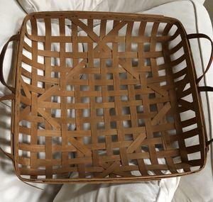 "Vintage tobacco basket large 23 x 23"" w 4 handles for Sale in Gainesville, VA"