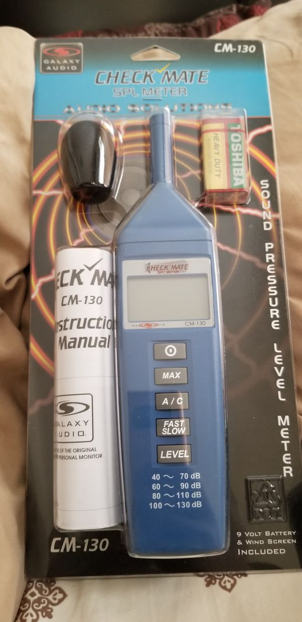 Sound pressure level meter(check mate) in an Excellent condition  for Sale  in Chicago, IL - OfferUp