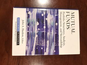 Book - Mutual Funds: Portfolio Structures, Analysis, Management, and Stewardship - BRAND NEW for Sale in McLean, VA