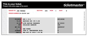 CHILDISH GAMBINO - THE FORUM Dec. 17th for Sale in West Los Angeles, CA