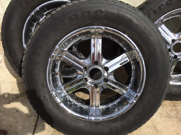 285 60r20 In Inches >> Set Of 4 20 Inch Chevy Rims And 285 60 R20 Tires For Sale In Stockton Ca Offerup
