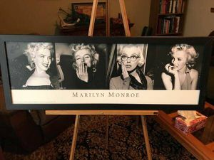 Black and white Marilyn Monroe wall hanging official - $30 (Reston) for Sale in Reston, VA
