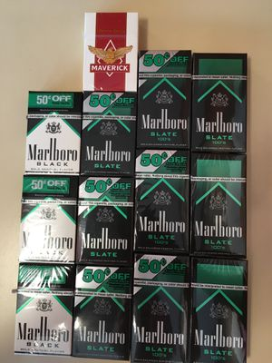 Marlboro menthol black shorts, Marlboro menthol slate 100's and shorts. for Sale in Boston, MA