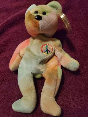 Photo Beanie Babies Peace Bear 1996