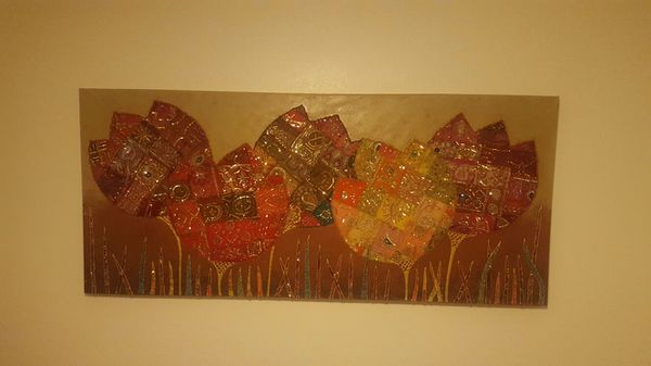 Pier 1 Imports Embroidered Tulips Wall Art for Sale in Gilbert, AZ ...