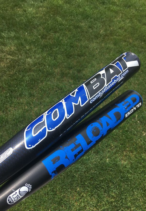 Pair of Combat USSSA youth baseball bats 31/21 and 30/18 for Sale in Tinley  Park, IL - OfferUp