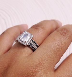 3pc S925 Sterling Silver Diamond Ring for Sale in Aspen Hill, MD