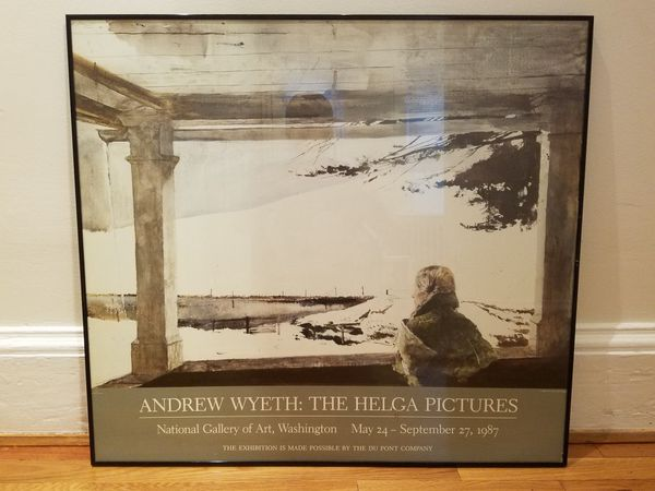 Andrew Wyeth 1987 Exhibition Art Poster Framed The Helga Pictures Wall Art Decor Photography Hanging Home Xl Large For Sale In Boston Ma Offerup