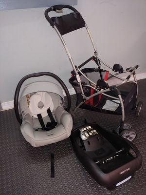 Maxi cosi car seat, base and snap n go stroller for Sale in Sudley Springs, VA