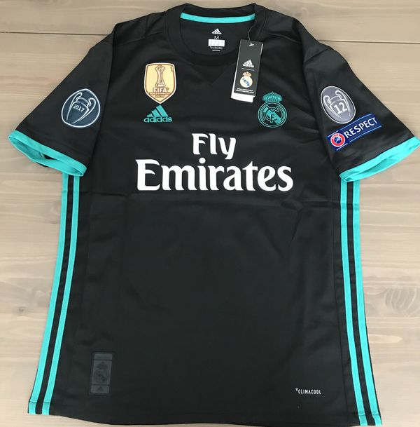 big sale 462d6 74db7 real madrid black and gold jersey