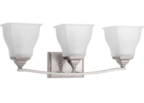 Progress Lighting Rizu Collection 3 Light Brushed Nickel: Progress Lighting Callison Collection 3-Light Brushed
