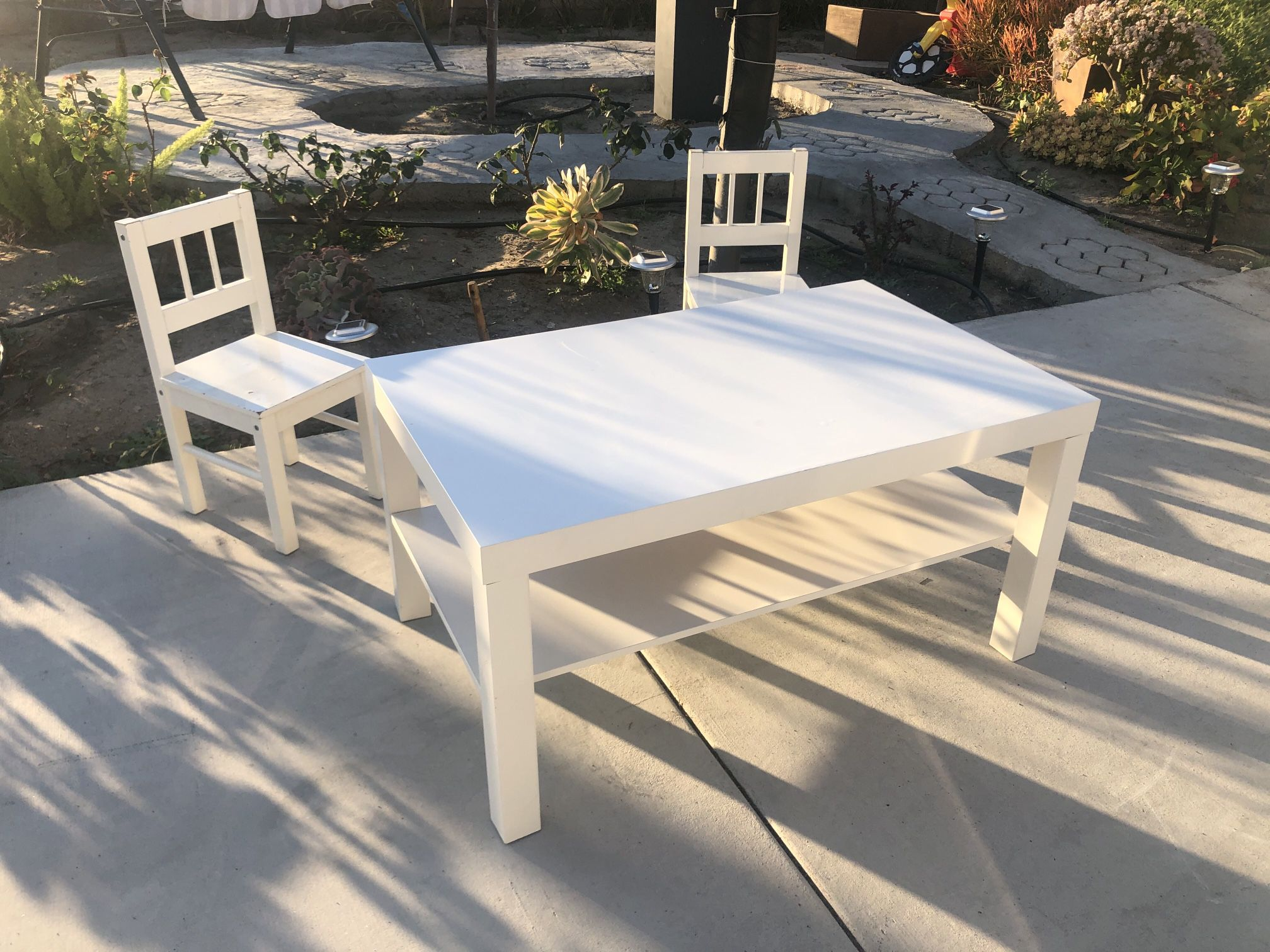 """Just Table ,,chairs  Sold Table Size : High 18"""" Depth 22"""" Length 35"""""""