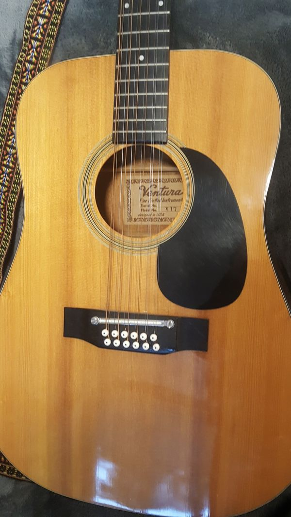 Mid 1970s Ventura 12 String Acoustic Guitar For Sale In Lakewood Wa