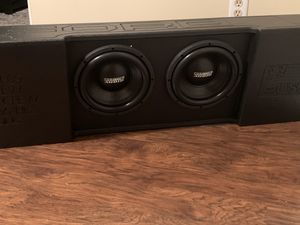 Photo Fox box with 10's from sundown audio speakers.