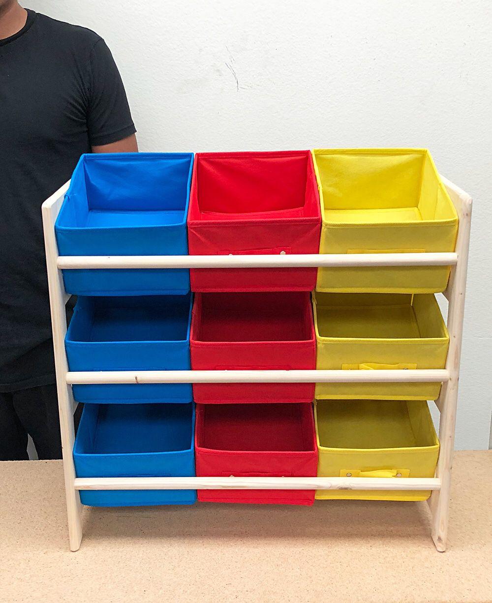 """New $25 Kids Toy Storage Organizer Box Wood Frame Shelf Rack Playroom Bedroom Bookshelf 25""""x11""""x24"""""""