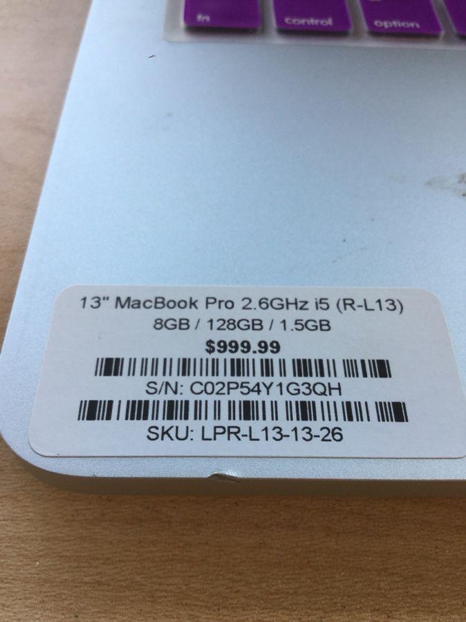"""13"""" MacBook Pro Retina i5"""
