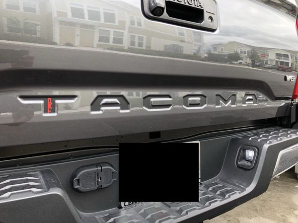 Premium matte black whit trd vinyl insert decals for 2016 2017 2018 tacoma auto parts in kissimmee fl offerup