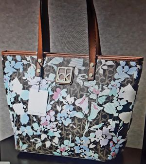48c2a8f1234 Handbag Calvin Klein brown floral tote shoulder bag MSRP: $ 148 for Sale in  San