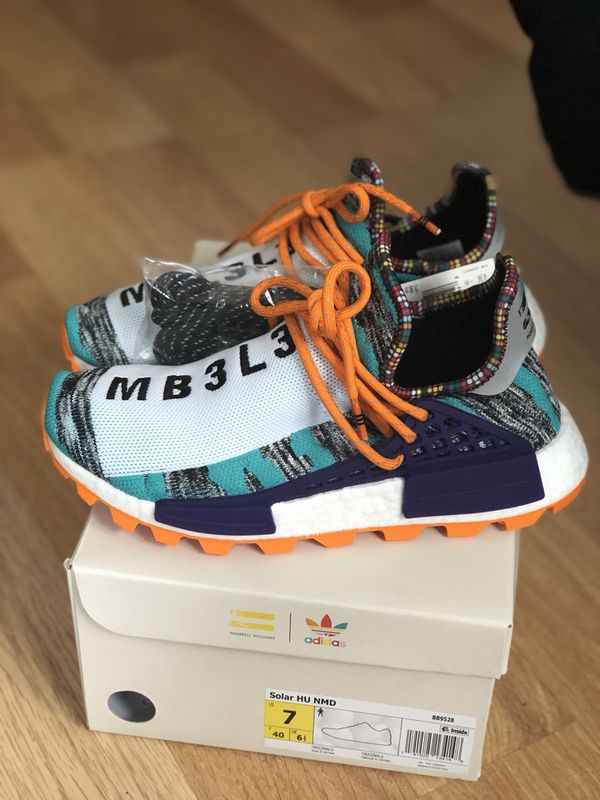 023c60bdcd8dd Pharrell x NMD Human Race Solar  Orange  for Sale in Columbia