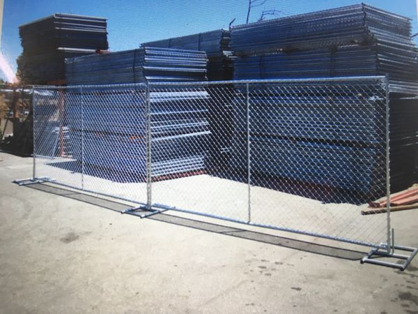 6 X10 Temporary Chain Link Fence Panels Panel Gate