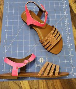 Hot pink cork Sandals Thumbnail