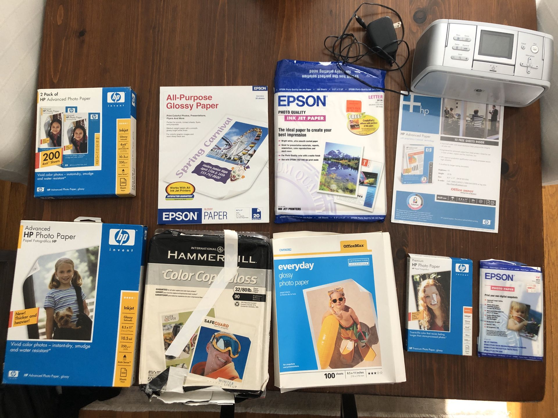 HP Photosmart 475 compact printer & mixed printer paper set