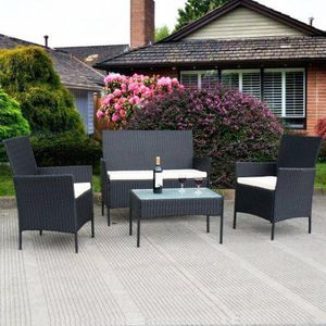 Sugar Land Tx Costway 4 Pc Outdoor Rattan Furniture Set For In Houston