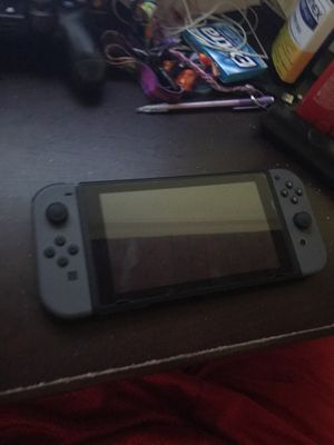 Nintendo switch cool grey with mario kart 8 delux with screen protector for Sale in Annandale, VA
