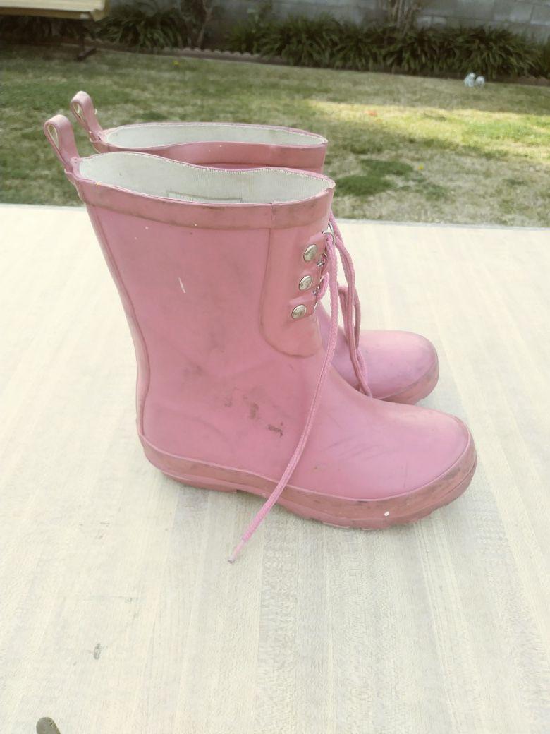 Girls Gap bubblegum pink rainboots