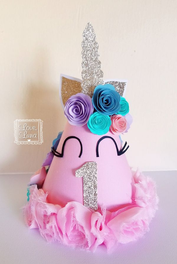 Custom Unicorn 1st Birthday Party Hat Chula Vista CA