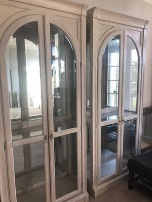 China cabinets with interior lighting and shelves for Sale in Sterling, VA