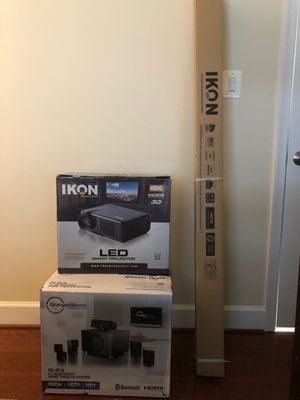 Home theater sound system, projector and screen NEW for Sale in Washington, DC