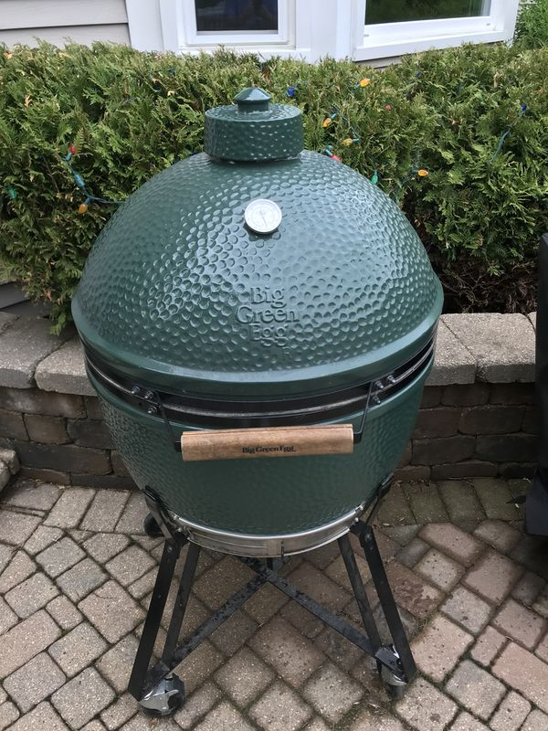 Extra Large Big Green Egg With Accessories For Sale In Il Us Offerup