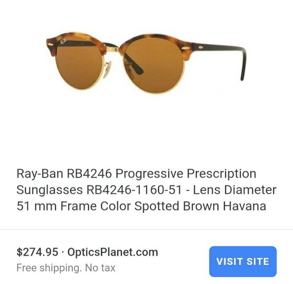 31700f1e0b Ray ban club round prescription sunglasses for Sale in Hilliard