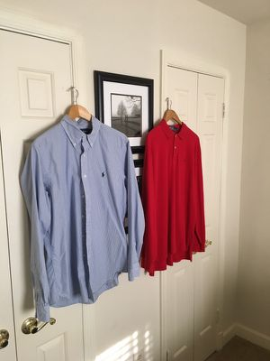 Men's Polo Ralph Lauren Shirts Size L for Sale in Alexandria, VA